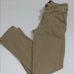 American Eagle Men's Khaki Pants, 26X30, Slim fit